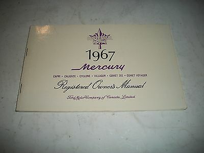 Nos 1967 Mercury Comet Owners Manual Caliente Cyclone Rare Canadian Issue