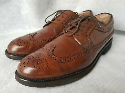 48ce0c8d76 Tod's Men's Leather Oxfords Size 12 M Wingtip Brogue Brown Shoes Lace Up