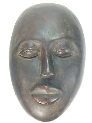 Antique Ethnographic  African  Art Dan Tribe Liberia Hand Carving Wood Mask