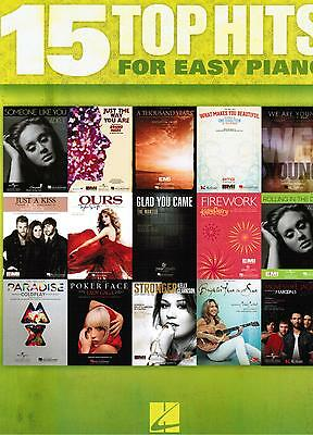 Klavier Noten : 15 TOP HITS for easy Piano - leicht  (Lady Gaga Adele Katy Perry