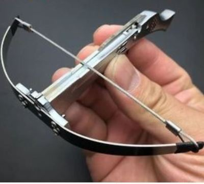 Minature Stainless Steel Grey Metal Crossbow For Target Shooting Archery ONLY