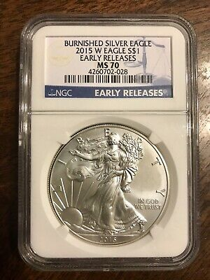 2015-W $1 Burnished Silver Eagle - Early Releases - NGC MS70