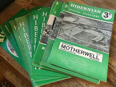 Hibernian HOME programmes 1960's and 1970's choose from list