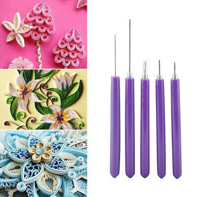 5x Multifunction Quilling Slotted Tool Paper Quilling Scrapbook Craft Set Kit