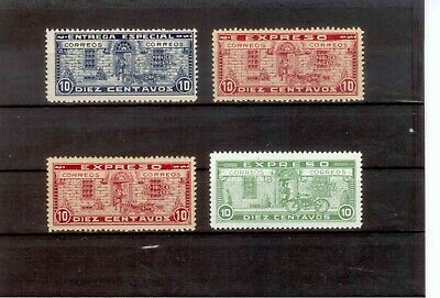 Dominican Republic 1925-27 Rare Set of 4 Express Delivery Stamps MM & MNH
