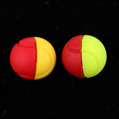 2 Count Silicone Tennis Shock Absorber Racket Vibration Dampener for Racquet