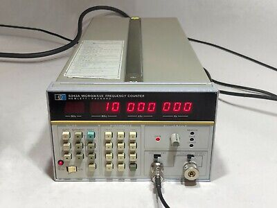 AGILENT/HP 5343A FREQUENCY COUNTER OPT: 001, 011, INST: 004 CESUIM LOCKED 10 MHz