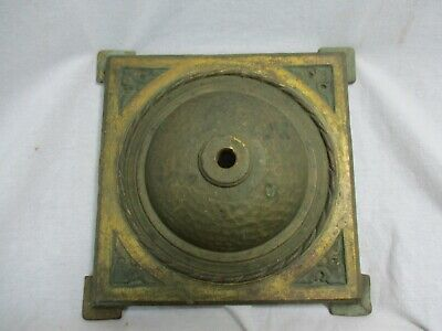 Antique Vintage Art Deco Cast Iron Floor Lamp Light Base Restoration #2