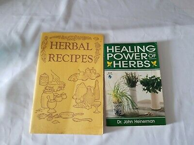 Healing Power of Herbs 1997 Paperback and Herbal Recipes 1978 Paperback