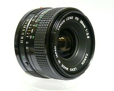 Canon Fd 28Mm F2.8 Wide Angle Lens. Excellent Condition, Perfect Working Order.