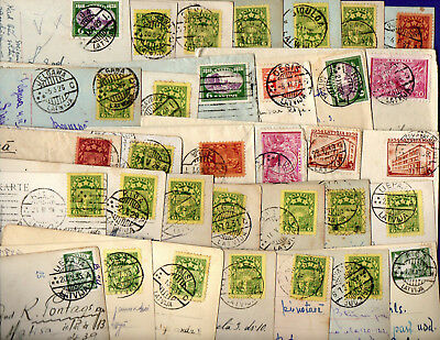LATVIA LETTLAND USED OLD Small Collection LOT OF 106 ENVELOPES AND POSTCARD 18