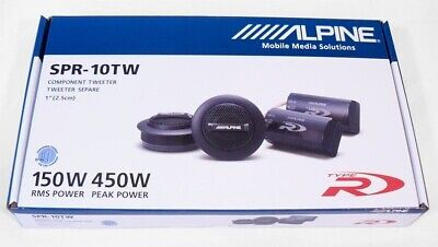 """ALPINE SPR-10TW 1/"""" SILK RING DOME CAR AUDIO TWEETERS WITH CROSSOVERS PAIR"""