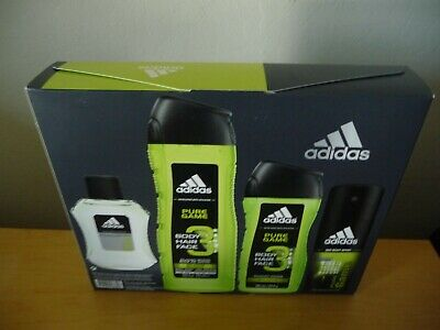 competitive price c9f11 334fd Men s Adidas 4-Pc Gift Set Pure Game 3 in 1 Shampoo Shower Gel