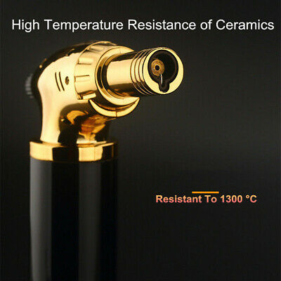 Jet Torch Gun Lighter Welding Adjustable Flame Windproof Butane Refillable Gas