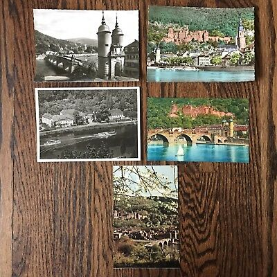 Vintage Heidelberg Germany Postcards 1950s - Set Of 5