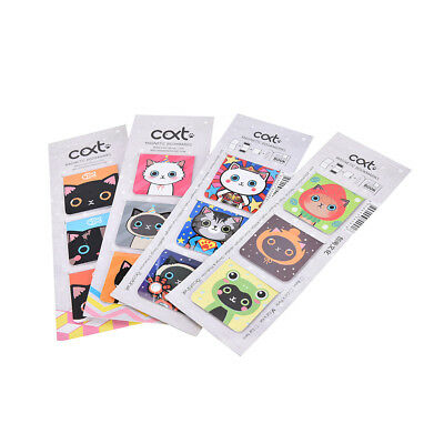 3XCartoon Cats Kitten Magnet Bookmark Stationery Souvenir Collection KidsGiftrV!