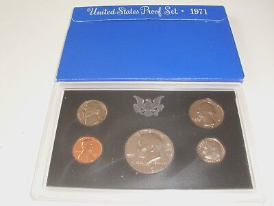 1971 S United States Proof Mint 5 Coin Set, Uncirculated