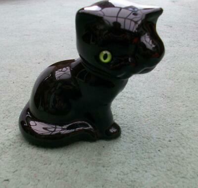 "VINTAGE MID CENTURY ""RAIN"" of LONDON CERAMIC BLACK CAT - Peek a Boo Cute Cat -"