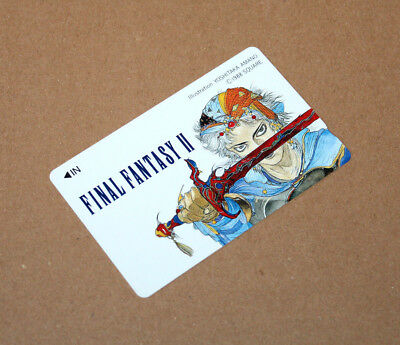 1988 Final Fantasy II 2 Japan Telephone Card Playstation Family Computer SNES