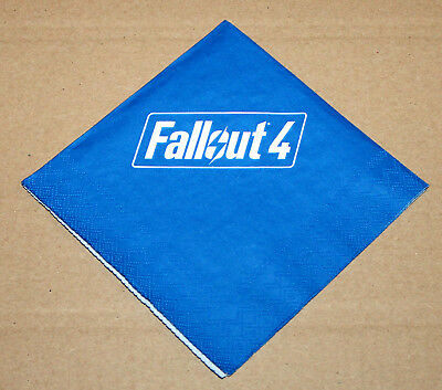 Fallout 4 Bethesda Promo Napkin from Gamescom 2015 Xbox One PS4 Playstation 4