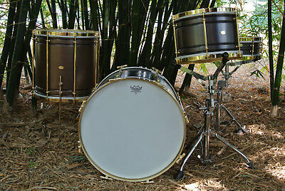 """AK COPPER BOP DRUM SET with 18"""" 12"""" 14"""" + MATCHING 4X14 SNARE DRUM MADE in ITALY"""