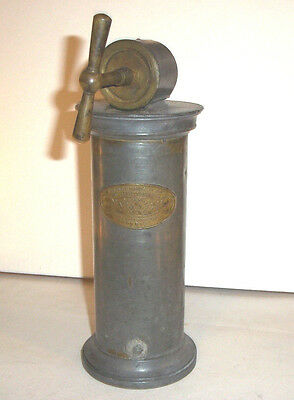 Antique French Cast Metal Medical Enema Pump , antique medical tool