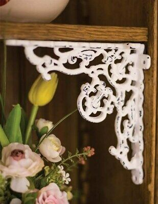 Victorian Trading Co Cast Iron Ornate Shelf Bracket White Chippy