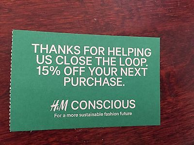 H&M COUPON 15% OFF Discount on ENTIRE STORE PURCHASE Expire 1/31/19