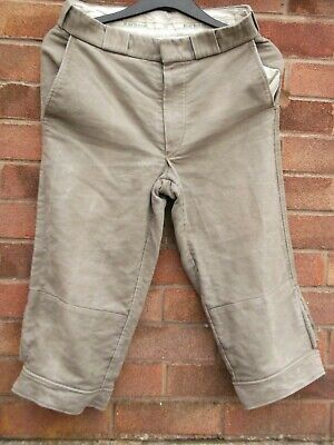 "Barbour Moleskin Look Size 32"" Waist Short Hunting/Shooting/Sport Trousers"
