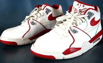 402a9461530a Nike Men s Air Flight 89 Basketball Shoes White Red 306252 105 Size 10