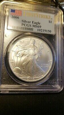 2006 American Silver Eagle MS 69 PCGS First Strike
