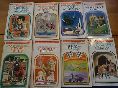 Lot Of 8 CYOA Choose Your Own Adventure Books #1, 3, 4, 9, 11 13 14 17 vintage