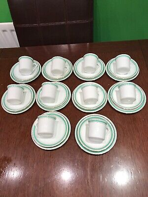 Art Deco Style Set Of 10 Vintage Coffee Can Trios - 30 Pieces