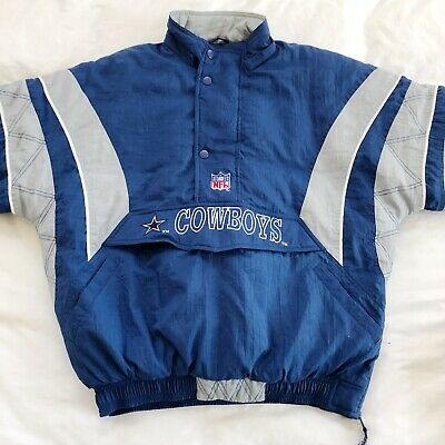 official photos caa4a ffde8 VINTAGE DALLAS COWBOYS Starter Jacket by Pro Line Men's Large Detachable  Hood