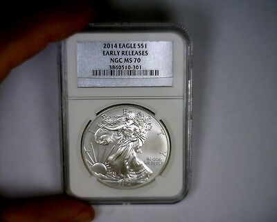 2014 NGC Silver Label MS70 Early Release American Silver Eagle Coin MS 70