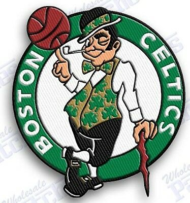 BOSTON CELTICS  iron on embroidered  PATCH BASKETBALL NBA HOOPS PATCHES LOGO