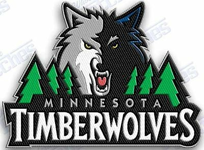 MINNESOTA TIMBERWOLVES  iron on embroidered  PATCH BASKETBALL NBA HOOPS PATCHES