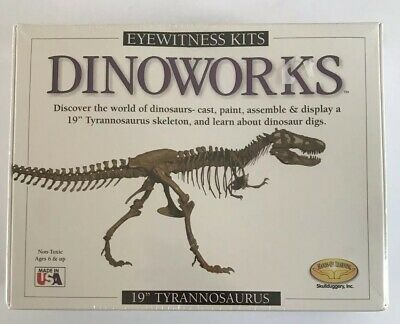 "NEW Eyewitness Kits Dinoworks 19"" Tyrannosaurus Skeleton Kit"