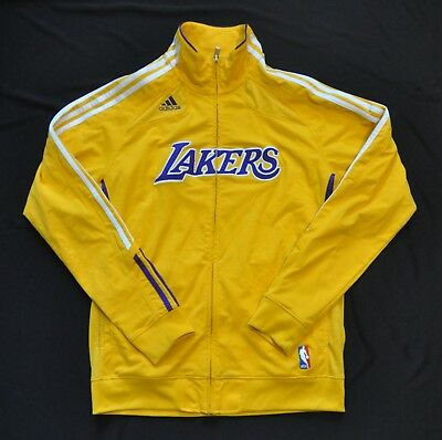 6160dd3c0d5 Los Angeles Lakers Adidas Yellow Warmup Jacket 10/11 Kobe Kobe Mens Medium