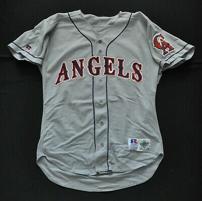 5b0af9c31 CALIFORNIA ANGELS  29 90s RUSSELL JERSEY GRAY MESH AUTHENTIC SEWN MENS 44  LARGE