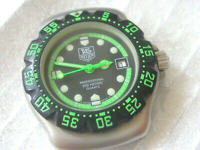 TAG HEUER F1 formula 1 classic, ladies mini diver, GREEN/BK with NO BAND
