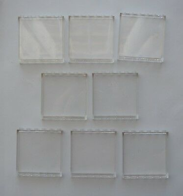 LEGO 8 x Trans Clear Window Panels - 1x6x5 - Friends City - Glass Wall