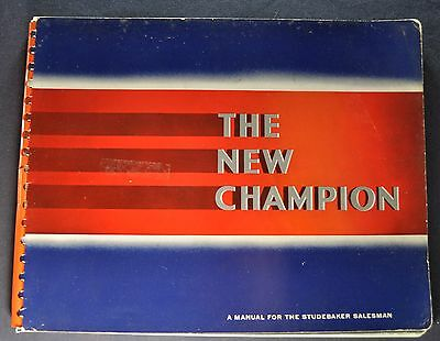 1939 Studebaker Champion Inside Facts Book Brochure Nice Original 39