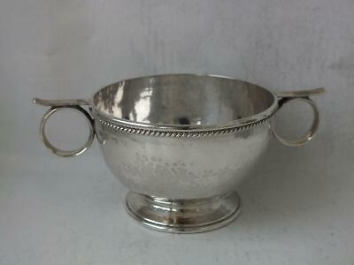Antique A.E. Jones Solid Sterling Silver Bowl 1916/ Dia 9.5 cm/ 155 g