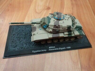 Atlas Deagostini 1/72 M60A3 Egypt 1999 Diecast Tank On Stand