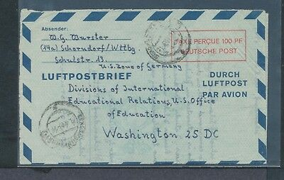 Germany US Occupation Michel LF2 airmail taxe perque 100pf used Wurttemberg