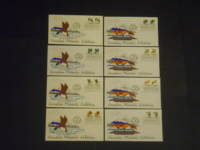 U.S. 1978 CAPEX US-Canada Wildlife 8 Duke Duffy cachet unaddressed FDC