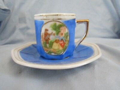 Handpainted Teacup & Saucer - Made in Occupied Japan