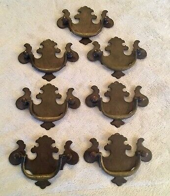 """Lot of 7 Vintage Bail Drawer Pulls Keeler Style Co 2.5"""" Centers"""