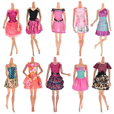 10 Pcs Party Wedding Dresses Clothes Gown For  Dolls Girls Random StyleV!